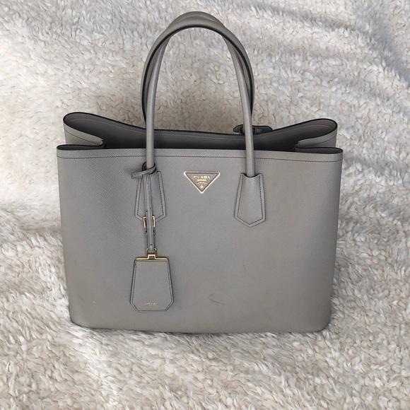 7bb51d524dd7d4 Prada Bags | Large Double Tote Bn2761 Saffiano Cuir | Poshmark